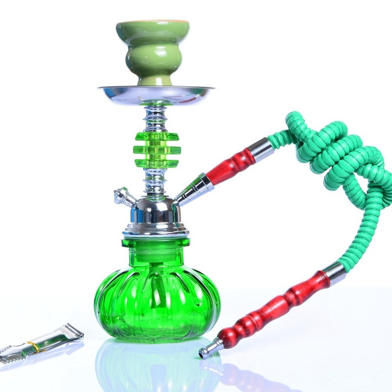 Portable Travel Hookah Small Shisha Pipe Set Nargile Chicha with Narguile Hose Bowl Tongs Charcoal Tray Shisha Accessories
